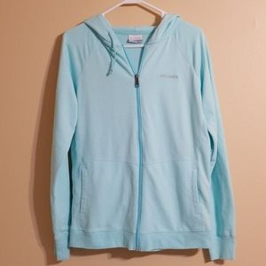 Columbia Tiffany Blue Full Zip Hoodie